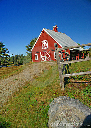 New England red barn