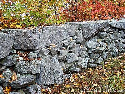 New England stonewall.