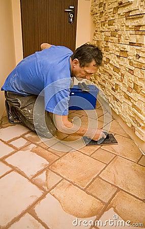 New floor tiles