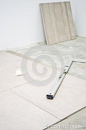 New floor tiles, installation