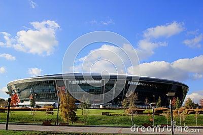 A new football Shakhtar Donetsk Stadium Editorial Photo