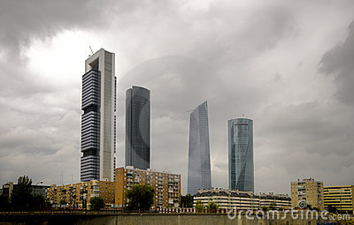 New Four Towers in Madrid Skyline, Madrid