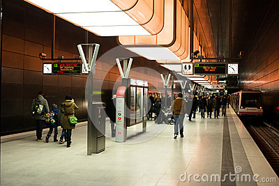 New Hafencity station in Hamburg Editorial Photography