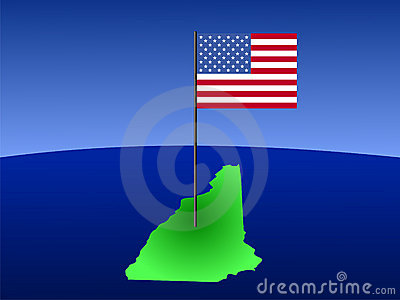 New Hampshire with Flag
