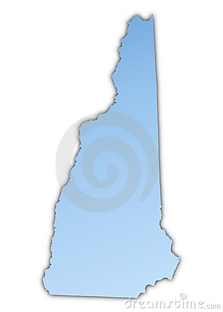 New Hampshire(USA) map