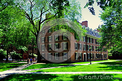 New Haven, CT: 1750 Connecticut Hall at Yale University Editorial Stock Image