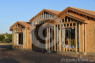 New Home Construction Framing In The Southwest. Editorial Stock Photo