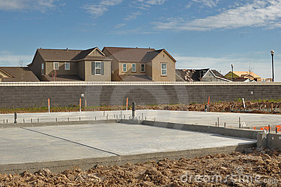 new home foundation royalty free stock photography image