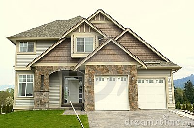 New Home House Front Garage  Royalty Free Stock Image - Image: 5087816