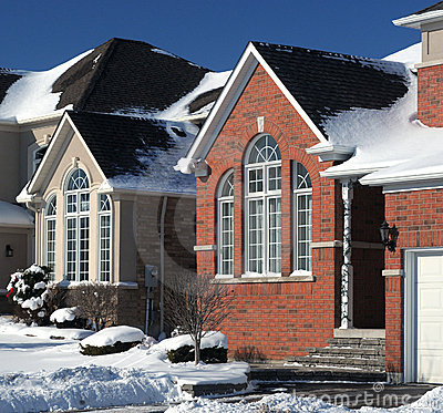 Free New Homes In Winter Stock Photo - 12484890