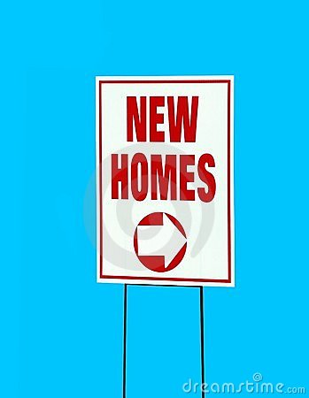 New homes sign stock image image 7611611 for New home sign