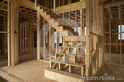 New House Construction Interior Royalty Free Stock Photos