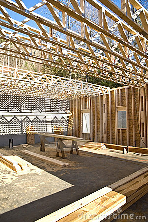 Free New House Construction/Trusses Stock Images - 7958204