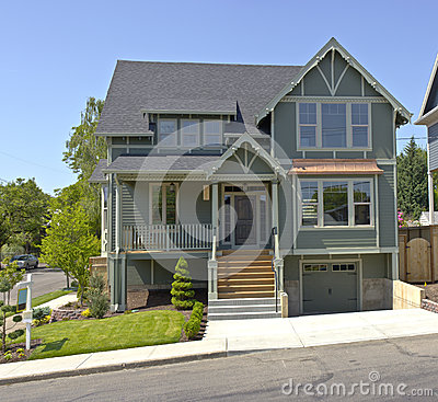 Free New House For Sale Portland Oregon. Stock Images - 53856114