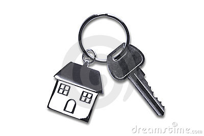 New house keys with clipping path