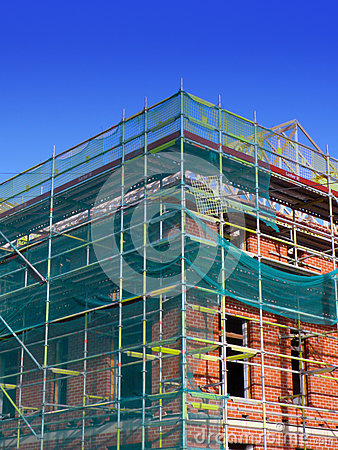 Free New Housing Under Construction Royalty Free Stock Photos - 80954898