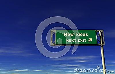 New Ideas - Freeway Exit Sign
