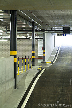 New indoors underground parking