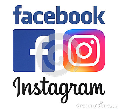 Free New Instagram And Facebook Logos Stock Image - 73453301