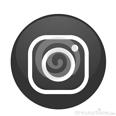 Free New Instagram Camera Logo Icon Vector In Black With Modern Gradient Design Illustrations On White Background Stock Photo - 138074340