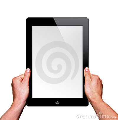 A new Ipad on hand Editorial Stock Image