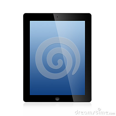 The New Ipad (Ipad 3) Isolated on white background Editorial Stock Photo