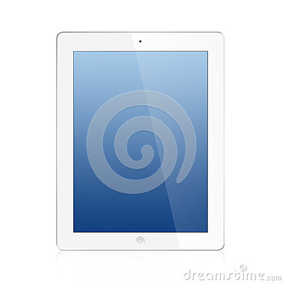 The New Ipad (Ipad 3) white Isolated Editorial Stock Image