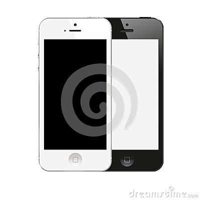 New IPhone 5 black and white color from Apple Editorial Photography