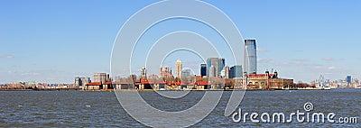 New Jersey skyline from New York City Manhattan