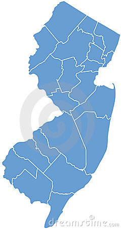 New Jersey State by counties