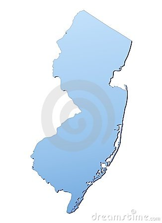New Jersey(USA) map