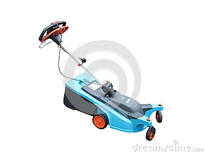 New lawn mower isolated over white