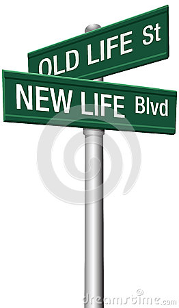Free New Life Or Old Change Street Signs Royalty Free Stock Photos - 27174058