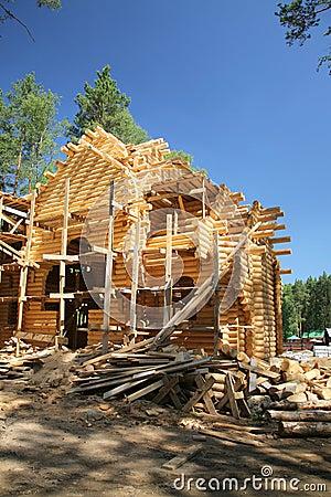 Free New Log House Royalty Free Stock Image - 7131736