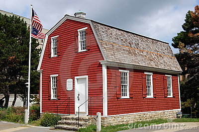 New London, CT: Nathan Hale Schoolhouse Editorial Stock Image