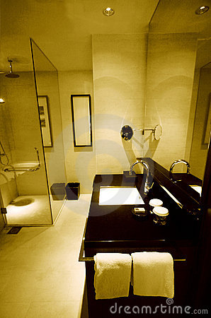 New luxury resort hotel bathrooms