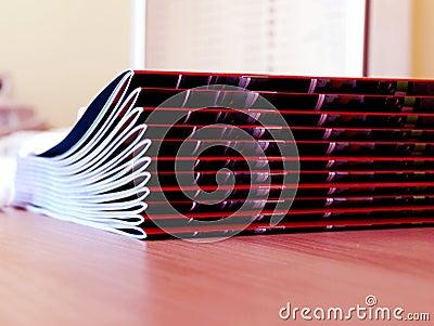 New magazines pile