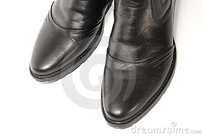 New male boots from natural, skins.