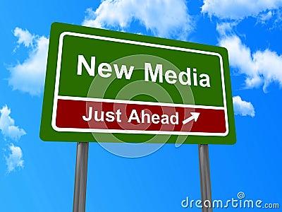 New media road sign