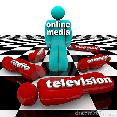 Free New Media Vs. Old Media - The Battle Is Won Stock Photo - 11463820