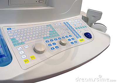 new medical keyboard, healthcare, isolated,