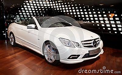 New Mercedes E class cabriolet Editorial Photo