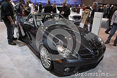 New Mercedes SLK 300 Cabriolet Editorial Stock Photo