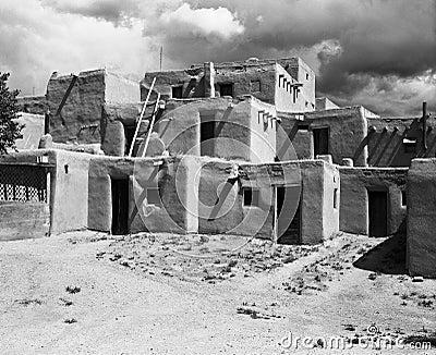 New Mexico Pueblo Editorial Photo