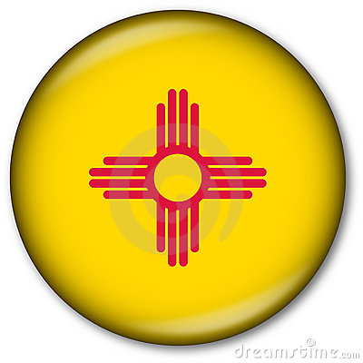 New Mexico State Flag Button