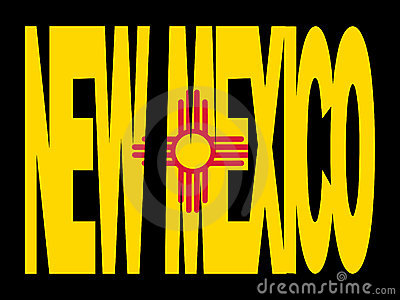 New Mexico text with flag
