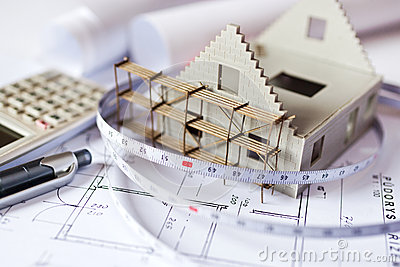 Blueprint model house