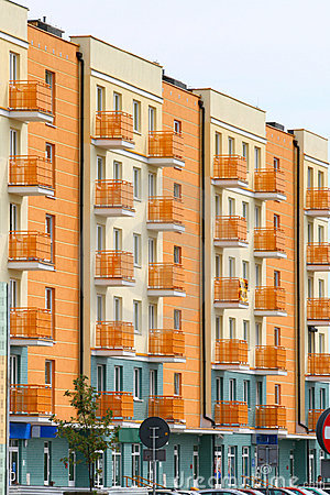 Free New Modern Apartments Royalty Free Stock Image - 9738016