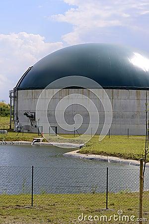 New, modern biogas plant