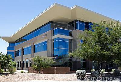 New modern corporate office building exterior